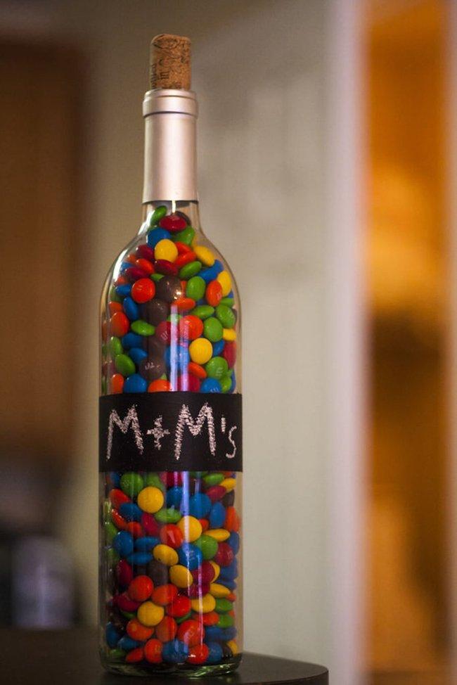 конфеты в бутылке