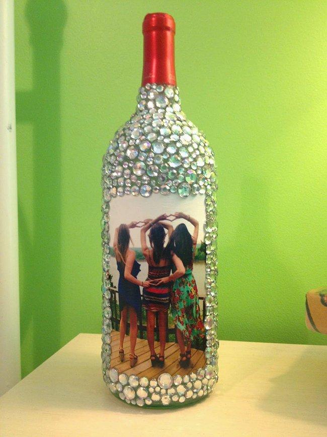 фотография на бутылке