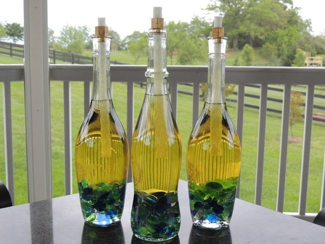 факелы из бутылок