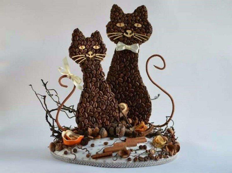 кошки из кофе