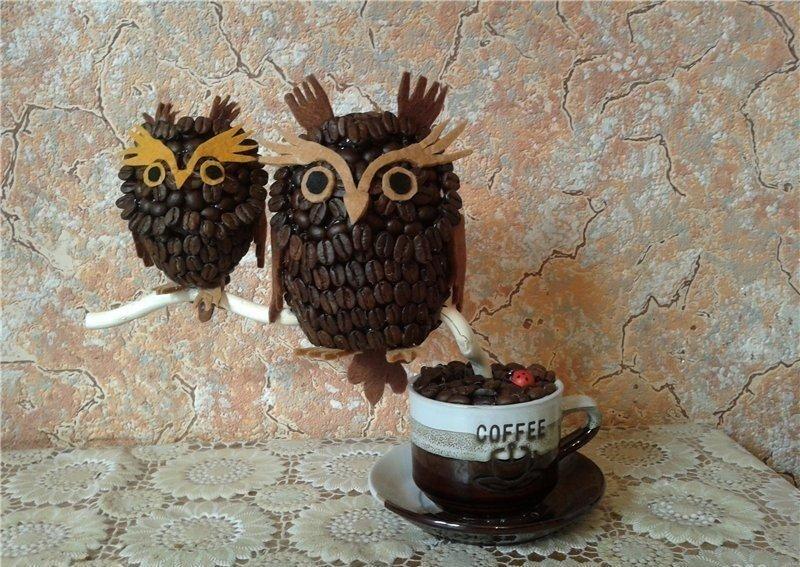 совы из кофе