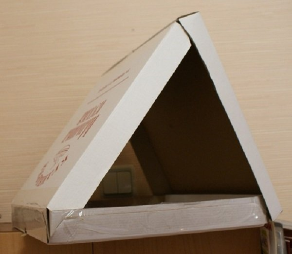 что сделать из коробки для пиццы