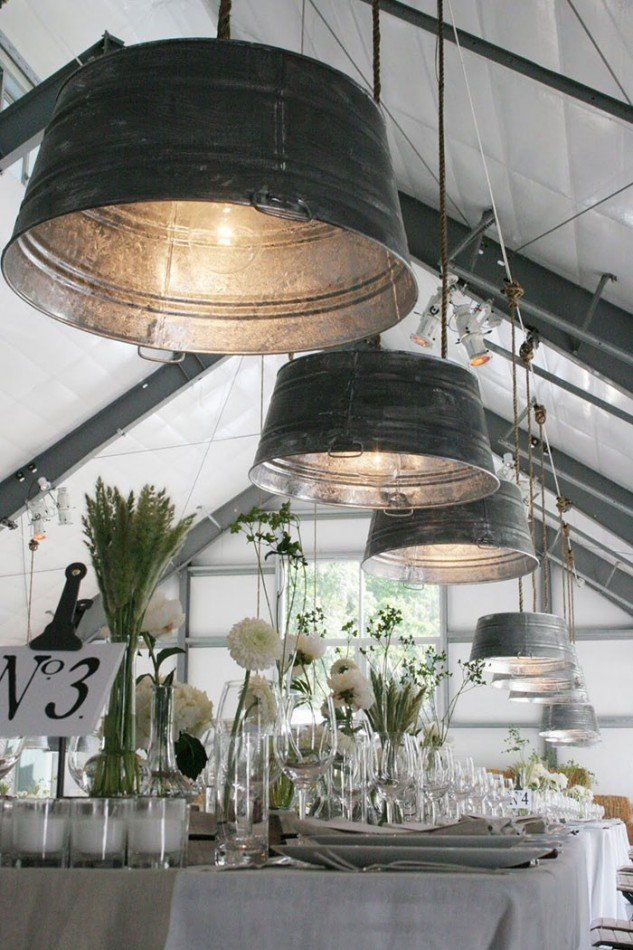 лампы из тазиков
