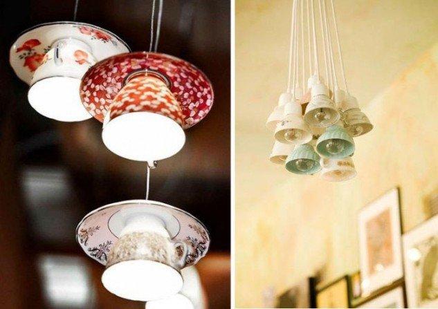 лампы из чашек