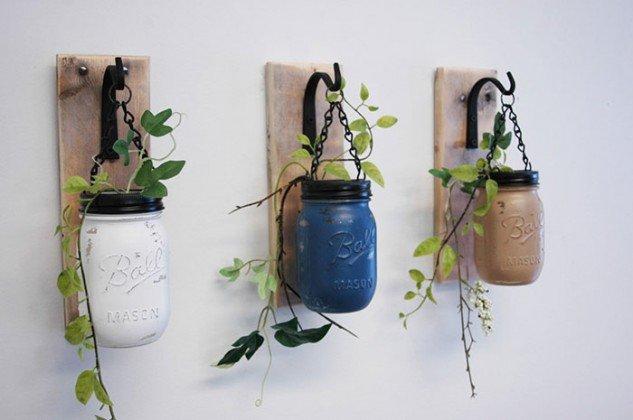 горшки для цветов из банок