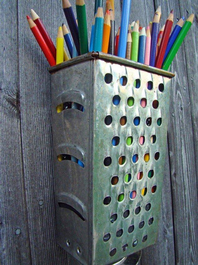 подставка для карандашей и ручек из терки