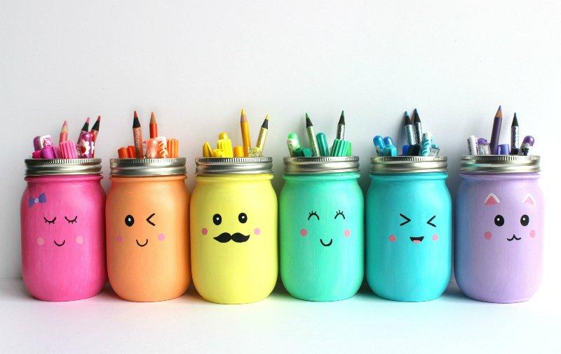карандашницы из банок