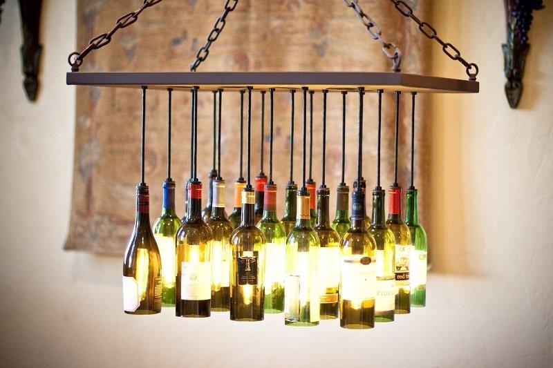 красивые люстры из бутылок