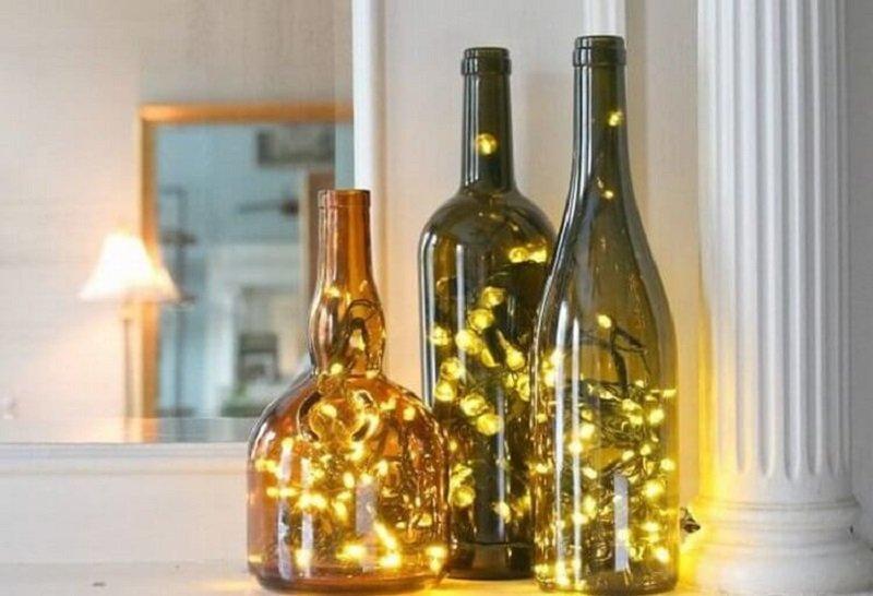 новогоднее украшение из бутылок