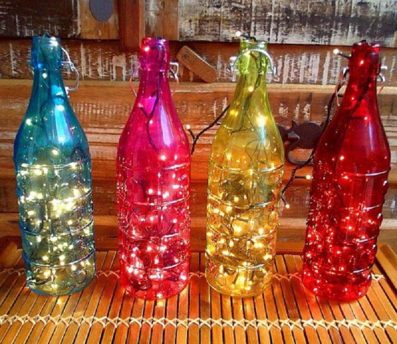 рождественское украшение из бутылок