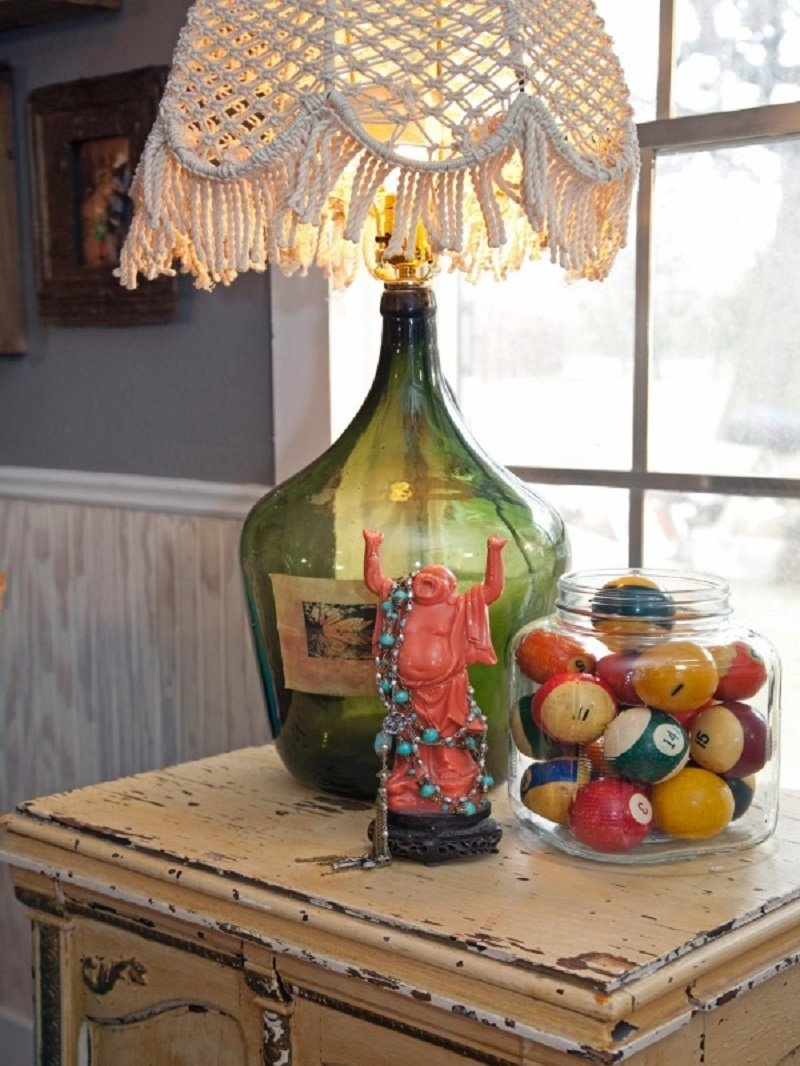 лампы из стеклянных бутылок