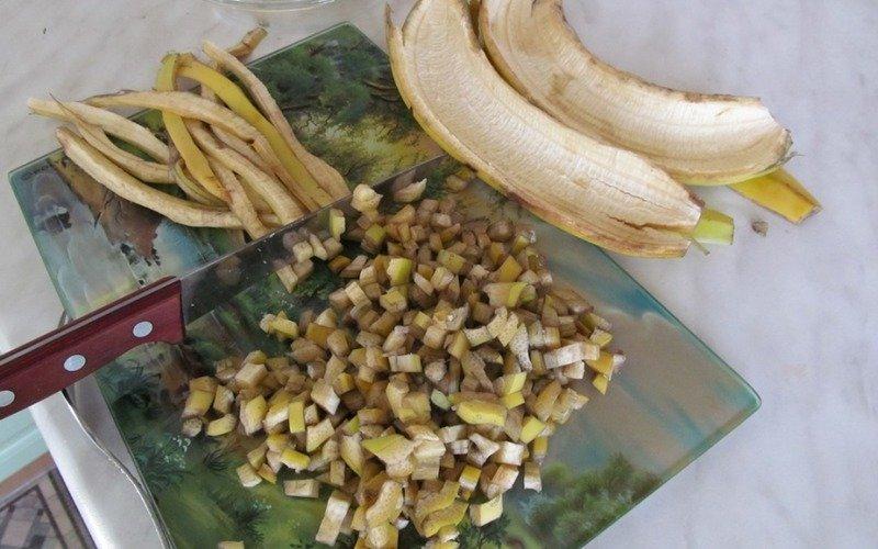 банановая кожура для удобрения