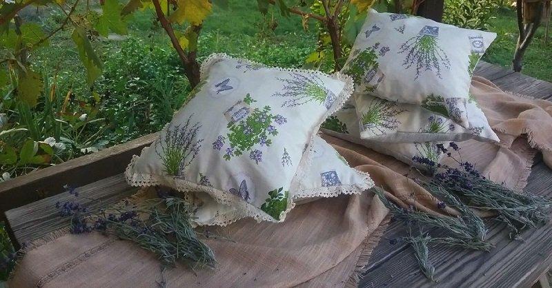 домашняя травяная подушка