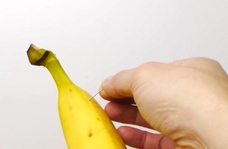 как почистить банан