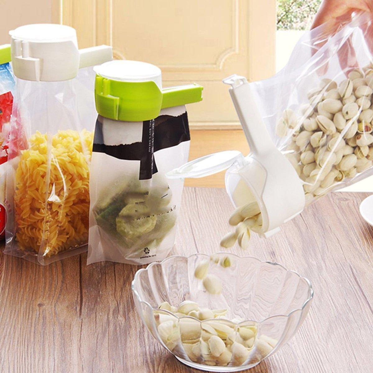 крышки для пакетов с орехами и макаронами