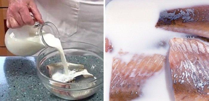 кулинарные советы, селедка в молоке
