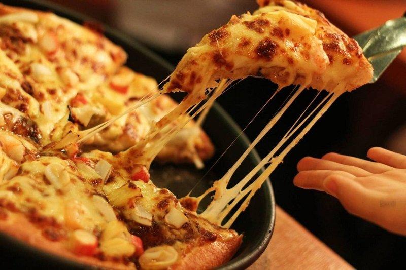 разогреть пиццу на сковороде