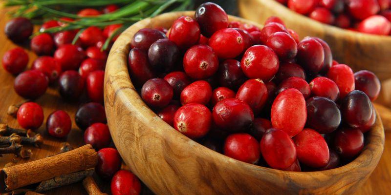 снимок ягод клюквы