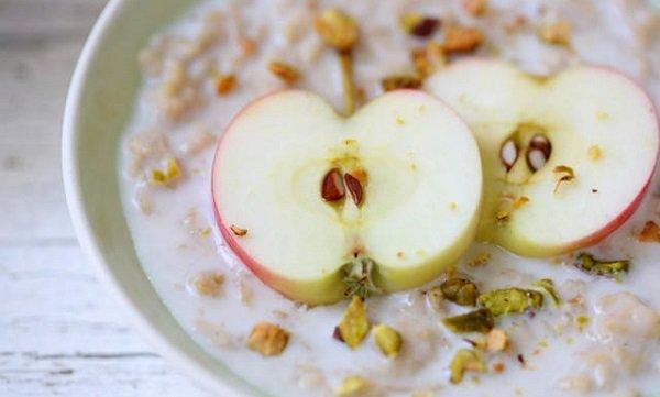 овсянка с яблоками фото