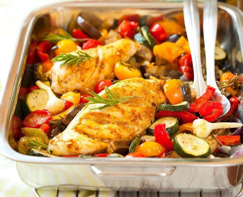 domowe półprodukty, kurczak z warzyw z