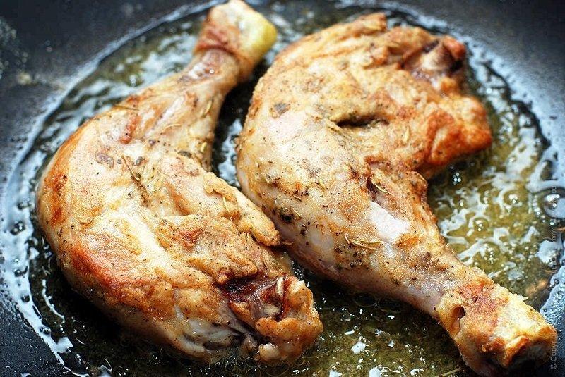 Вкусно пожарить куриные ножки на сковороде пошаговый рецепт