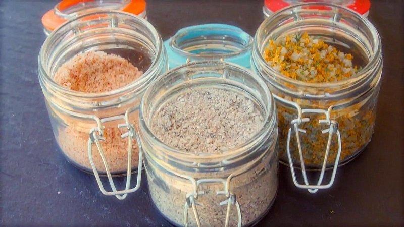 блюда с морской солью