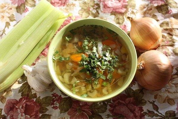 суп с сельдереем фото