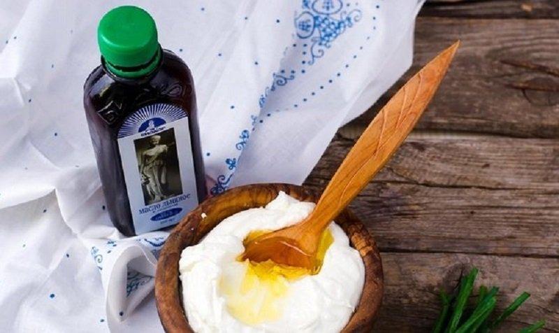 творог с льняным маслом