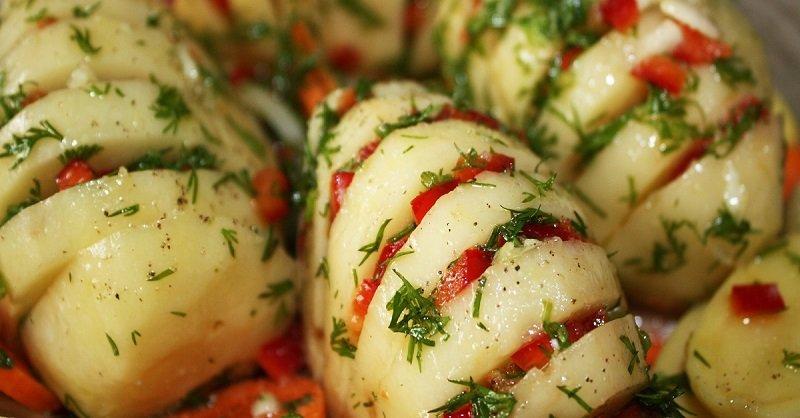 Гармошка из картофеля