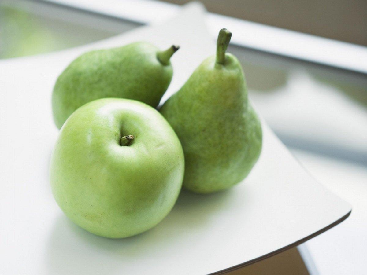 польза яблок и груш