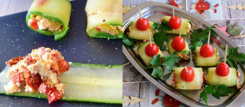 bułki ogórkowe z suszonymi pomidorami