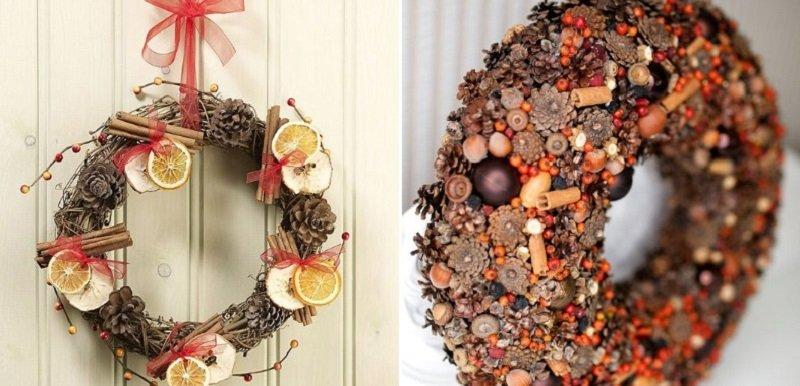 Праздничный декор, использование палочек корицы