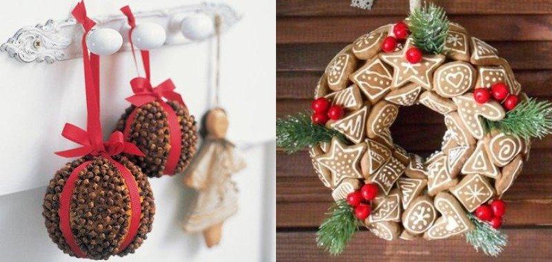 Праздничный декор, съедобные рождественские веночки