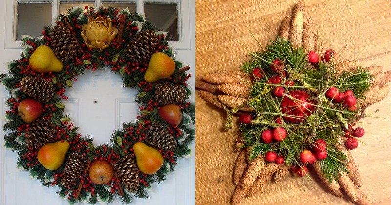 Праздничный декор, композиции с грушами