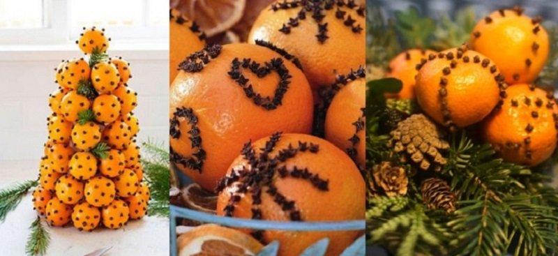 Праздничный декор, цитрусовые