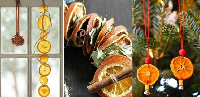 Праздничный декор, засушенные цитрусовые