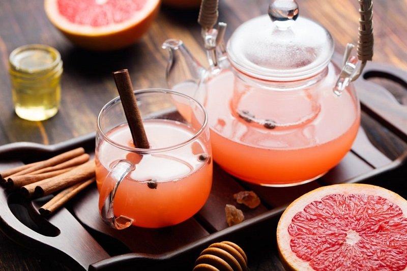 грейпфрутовый чай с корицей