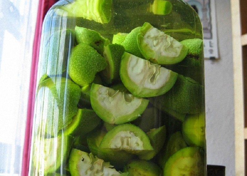 как готовить зеленые орехи
