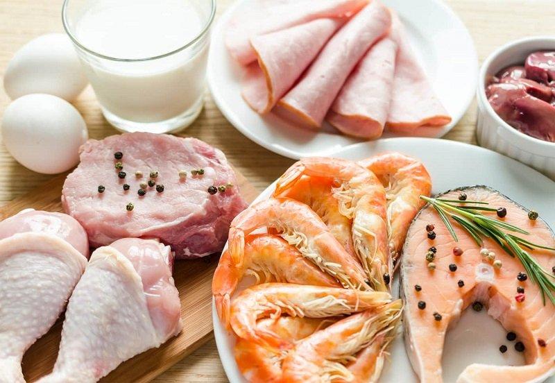 Продукты для белковой диеты, мясо, рыба, молоко