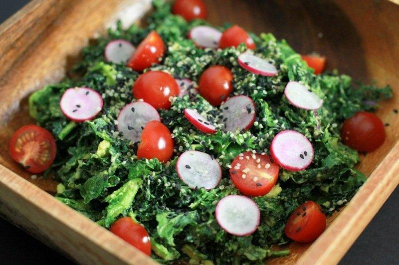 салат с кучерявой капустой фото