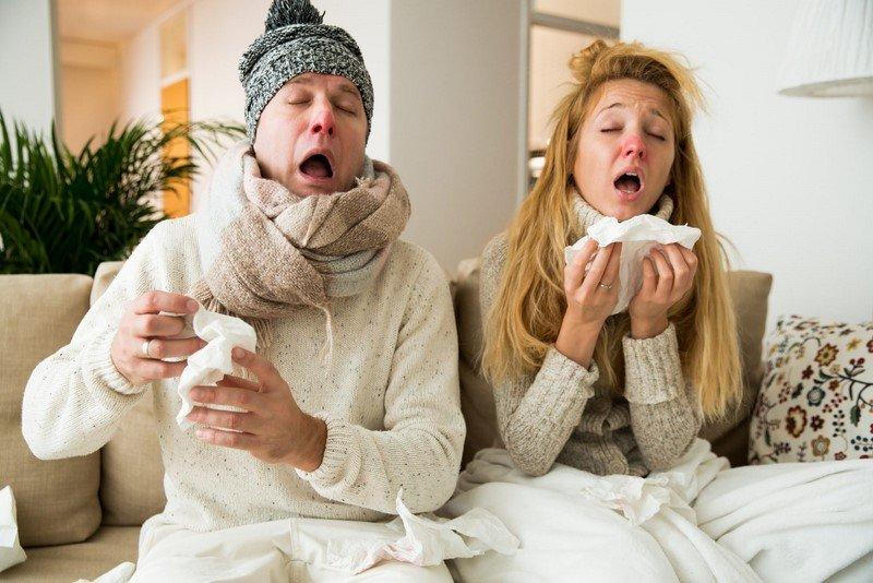 простуженные люди