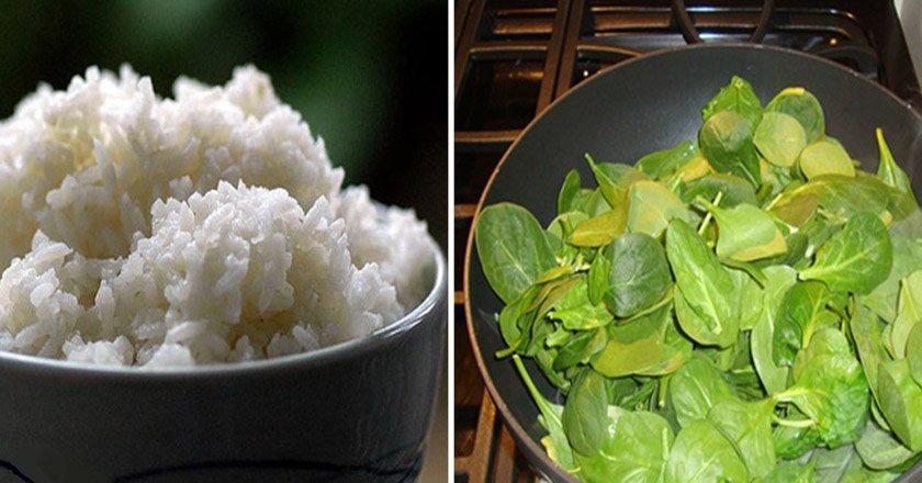 рис и зелень
