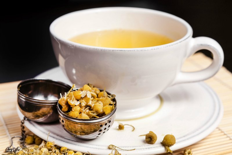 výhody heřmánku čaj