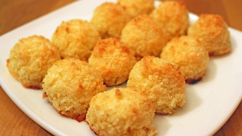 Кокосовое печенье за 15 минут