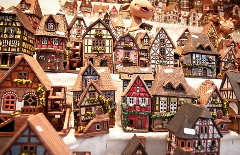 пряничные домики на ярмарке