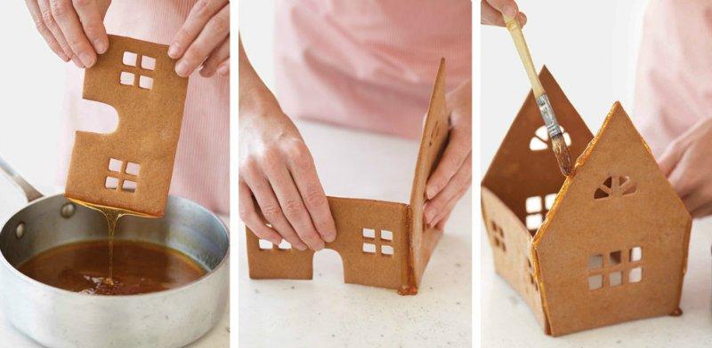 как скрепить пряничный домик