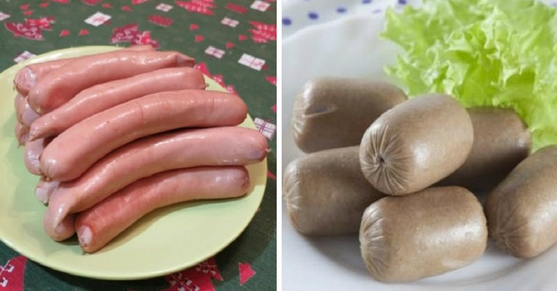 Разница между сосисками и сардельками