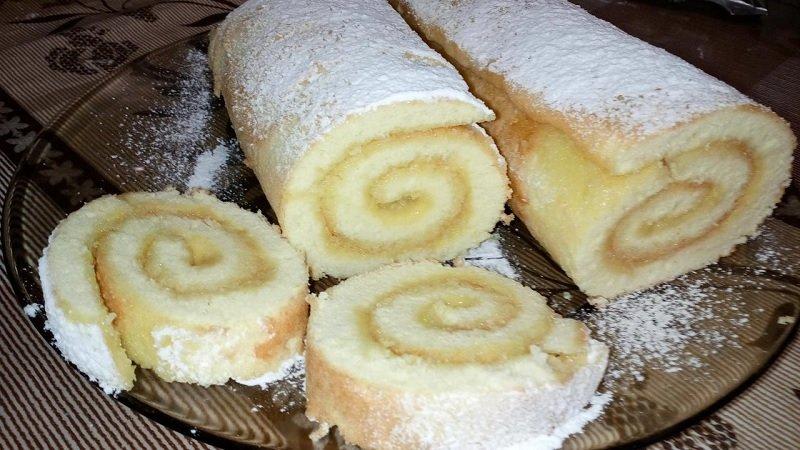 рецепты бисквитных рулетов