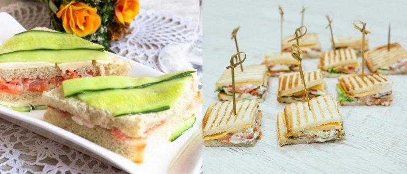 рецепты блюд из рыбы, сэндвичи с красной рыбой