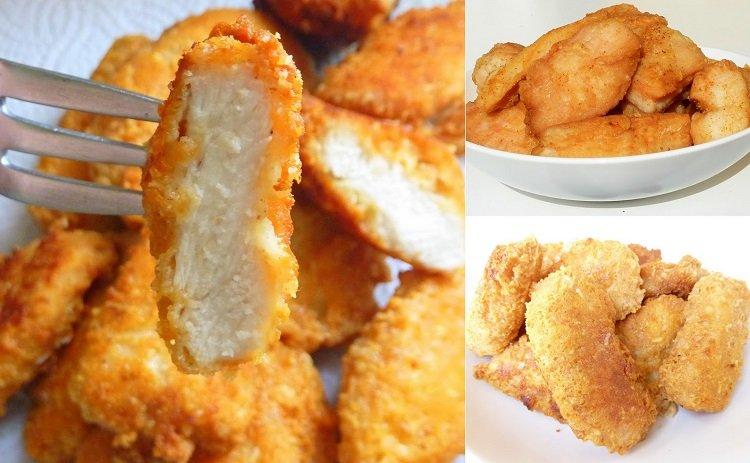 быстрые закуски, хрустящее куриное филе